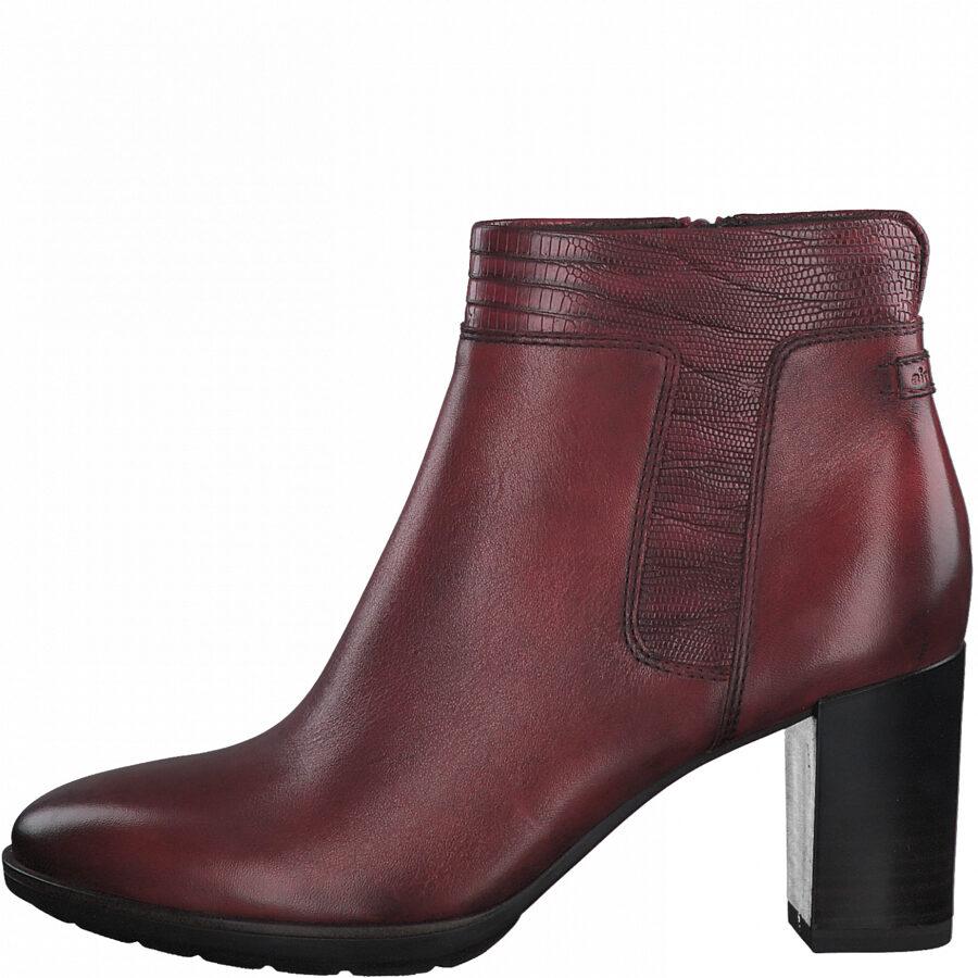 Tamaris ādas apavi,  sieviešu sarkani ādas puszābaki