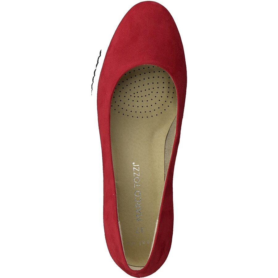 Marco Tozzi apavi, sieviešu sarkanas kurpes, laiviņas