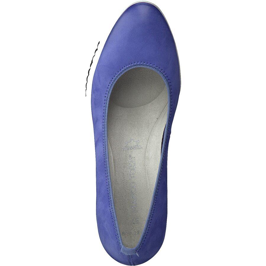 Marco Tozzi apavi, sieviešu zilas ādas kurpes
