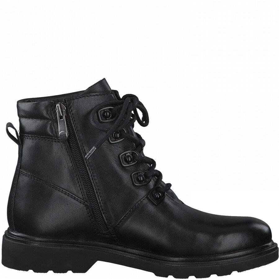 Marco Tozzi ādas apavi, sieviešu melni puszābaki