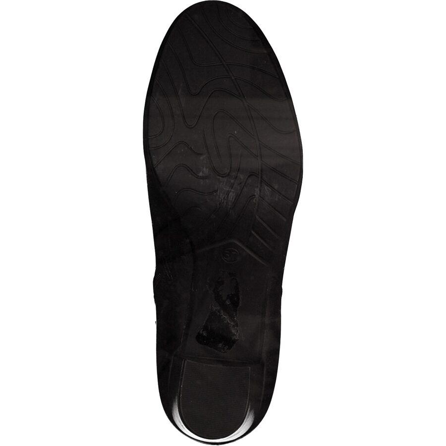 Marco Tozzi apavi, melni ādas zābaki, sieviešu rudens/pavasara puszābaki