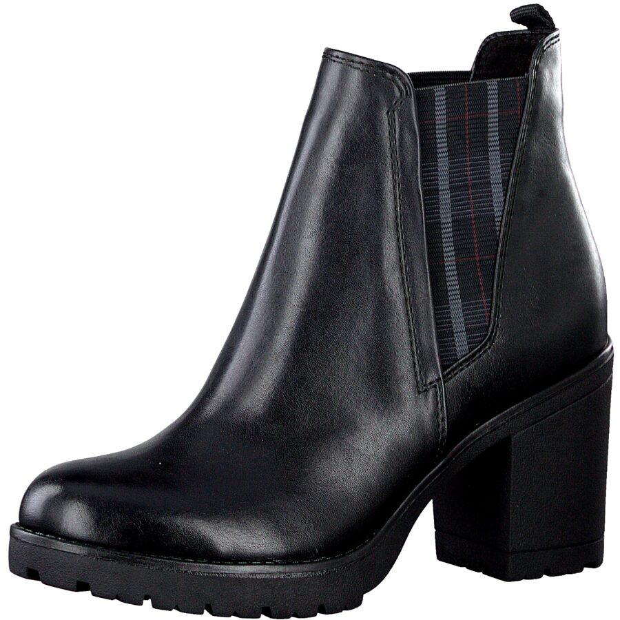 Marco Tozzi apavi, sieviešu augstpapēžu zābaki, melni puszābaki