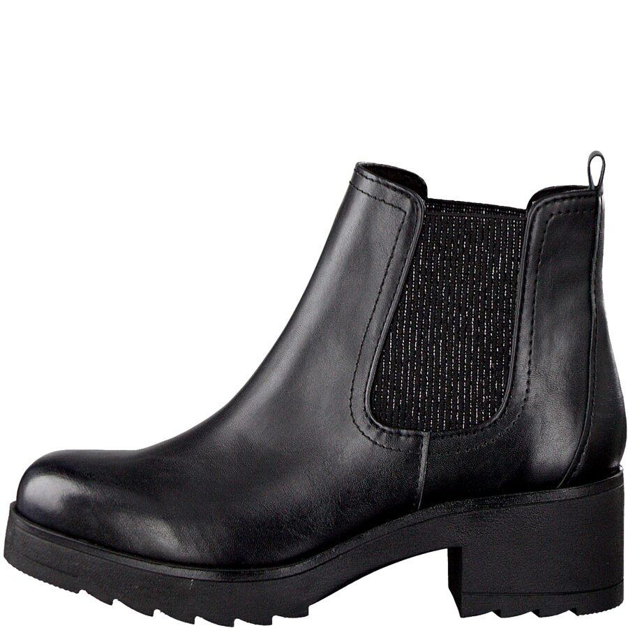 Marco Tozzi apavi, sieviešu zābaki, melni puszābaki