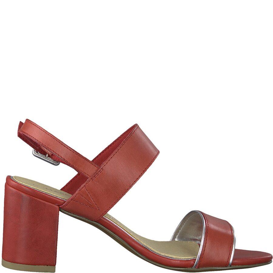 Marco Tozzi ādas apavi, sieviešu vasaras, sarkanas kurpes