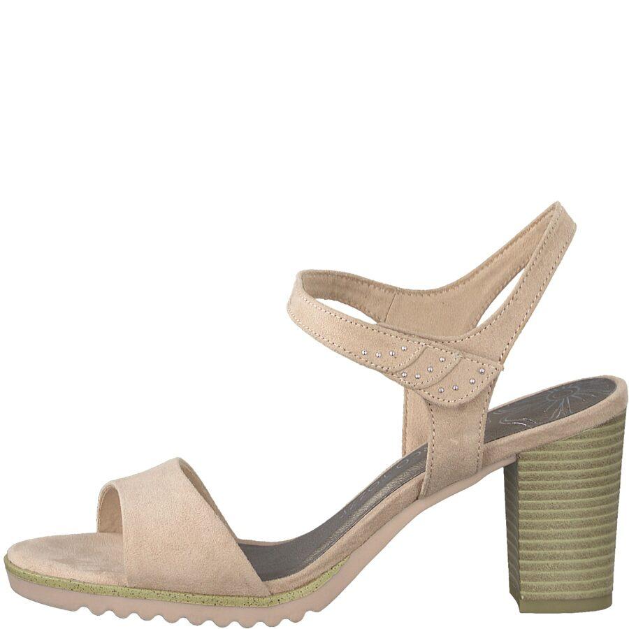 Marco Tozzi apavi, sieviešu gaišas, augstpapēžu vasaras kurpes