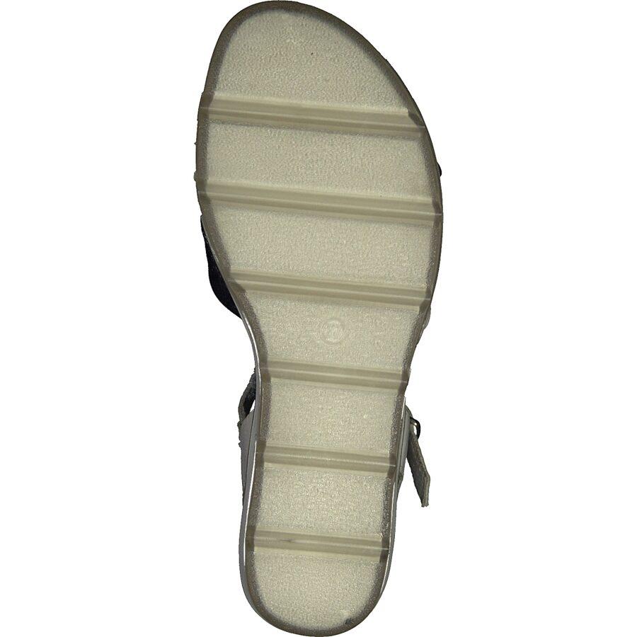 Marco Tozzi ādas apavi, sieviešu baltas zandales, vasaras kurpes