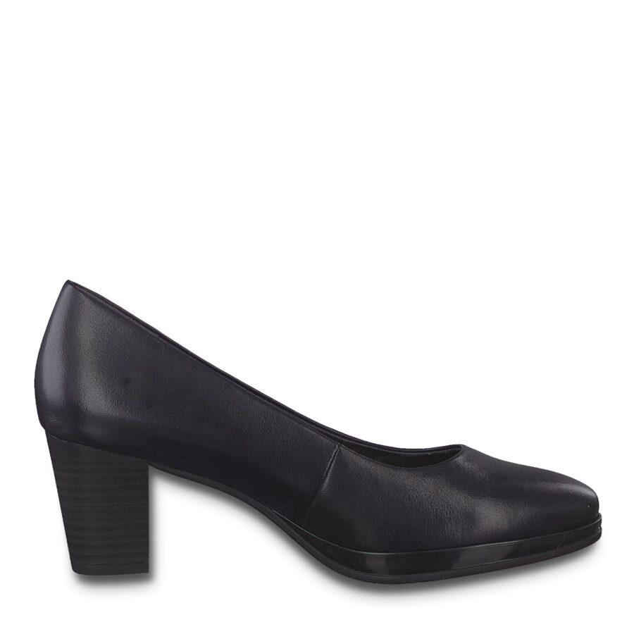 Jana apavi, sieviešu zilas ādas augstpapēžu kurpes
