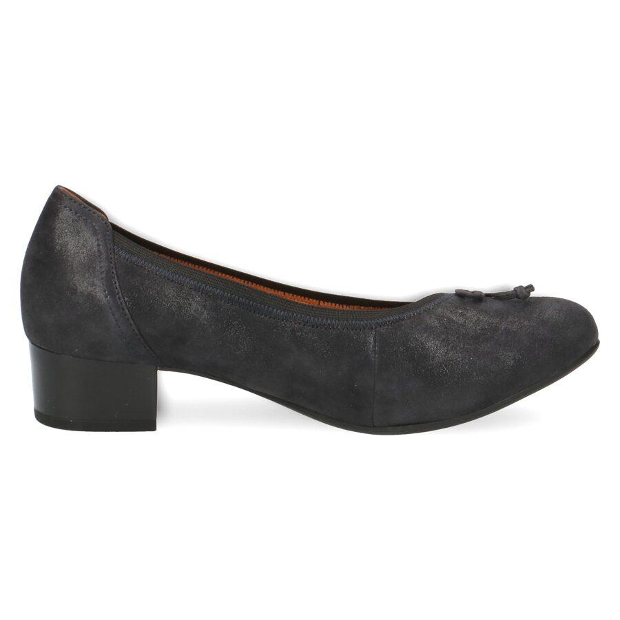 Caprice apavi, sieviešu zilpelēkas ādas kurpes, laiviņas