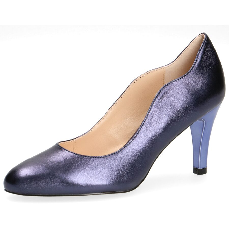 Caprice apavi, sieviešu zilas ādas augstpapēžu kurpes