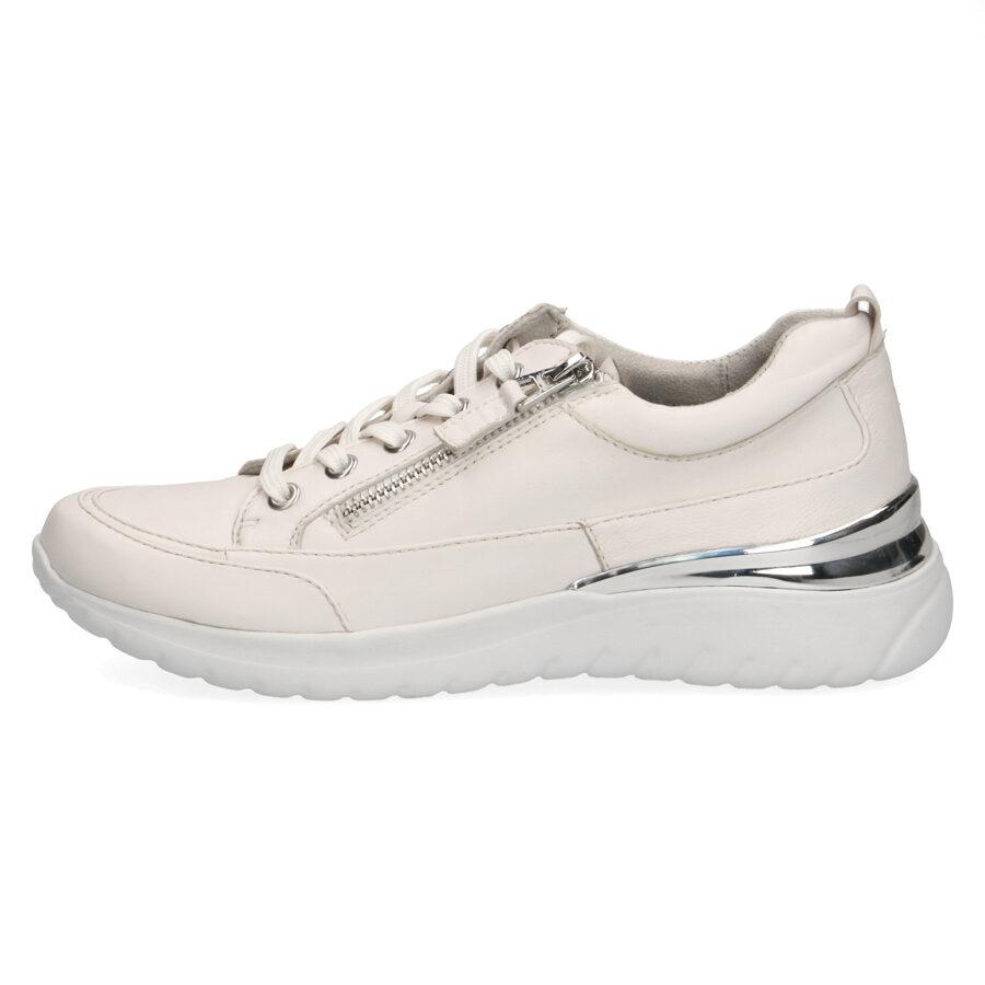 Caprice ādas apavi, baltas sieviešu botes, krosa kurpes