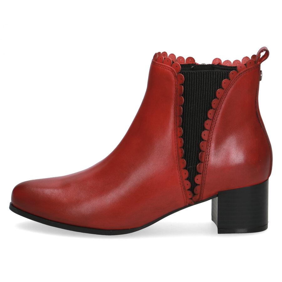 Caprice ādas apavi, sieviešu sarkani ādas puszābaki