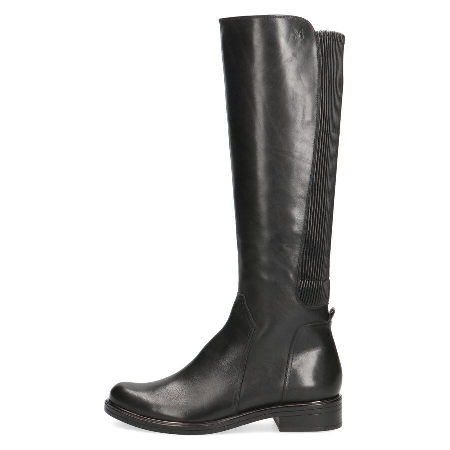 Caprice ādas apavi, melni, gari sieviešu zābaki