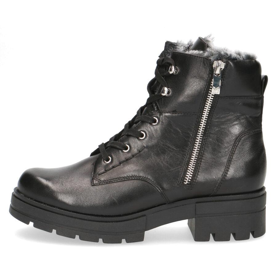 Caprice apavi, sieviešu ziemas zābaki, melni puszābaki