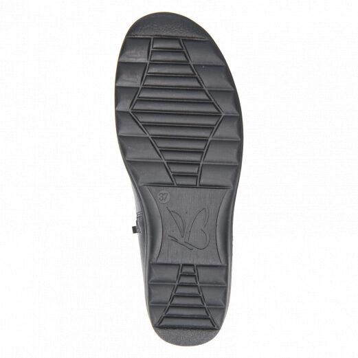Caprice apavi, sieviešu ziemas ādas zābaki, melni puszābaki