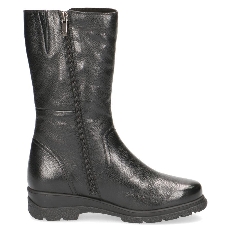 Caprice ādas apavi, melni sieviešu zābaki