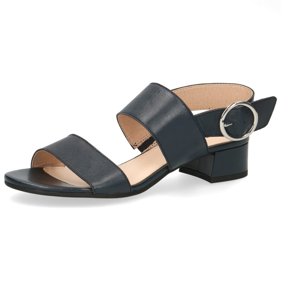 Caprice ādas apavi, zilas zandales, vasaras kurpes