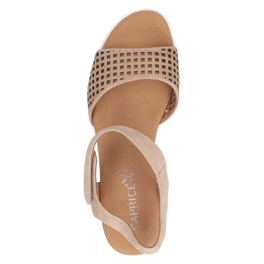 Caprice ādas apavi, sieviešu vasaras kurpes, zandales
