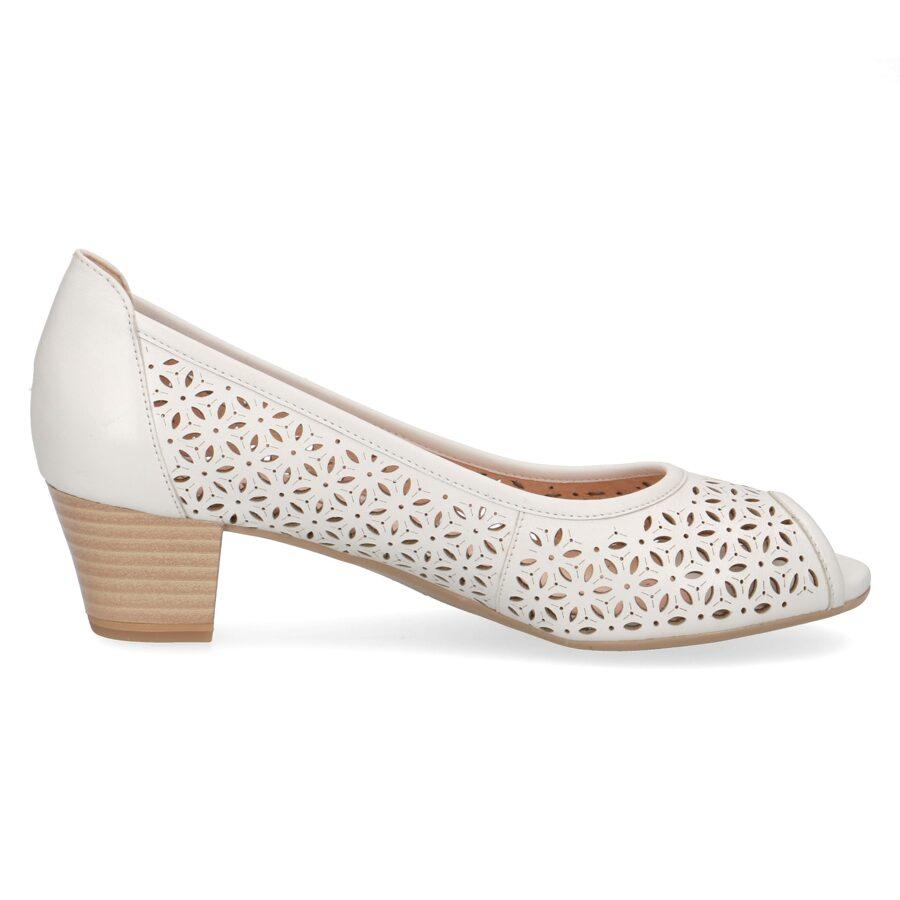 Caprice ādas apavi, baltas vasaras kurpes