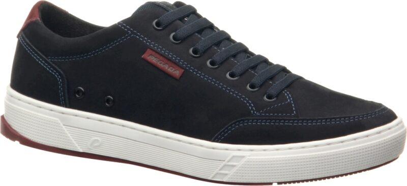 Pegada ādas apavi, zili vīriešu brīvā laika apavi