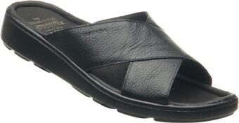 Pegada ādas apavi, melnas vīriešu iešļūcenes