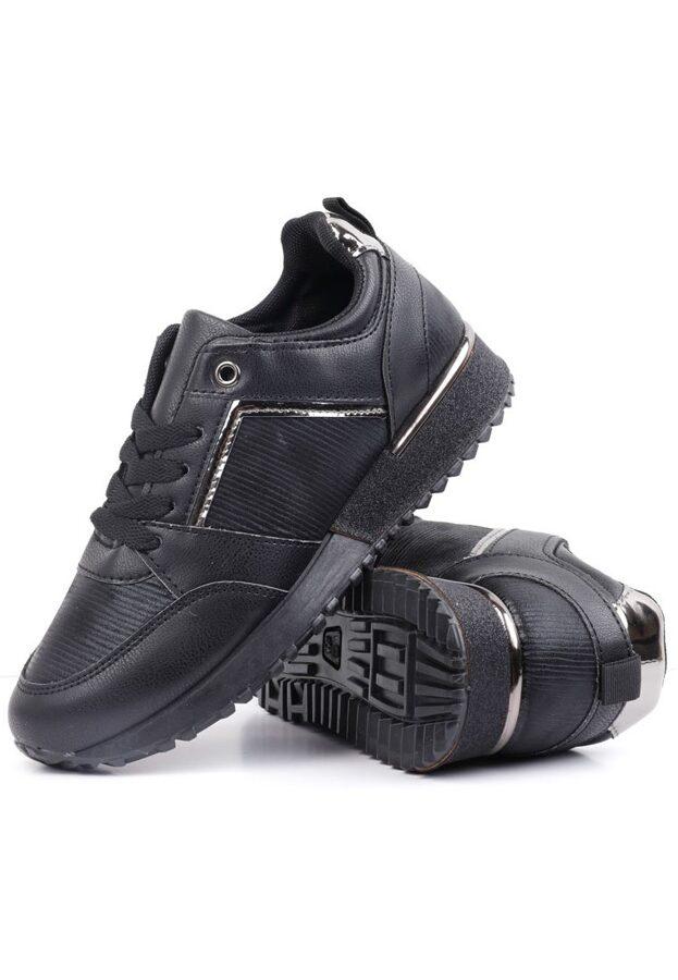 Sieviešu krosa kurpes, melni brīvā laika apavi, botes