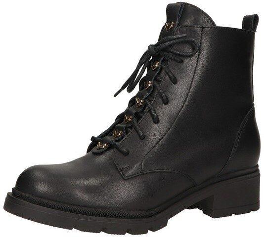 Ādas apavi, sieviešu rudens zābaki, melni puszābaki
