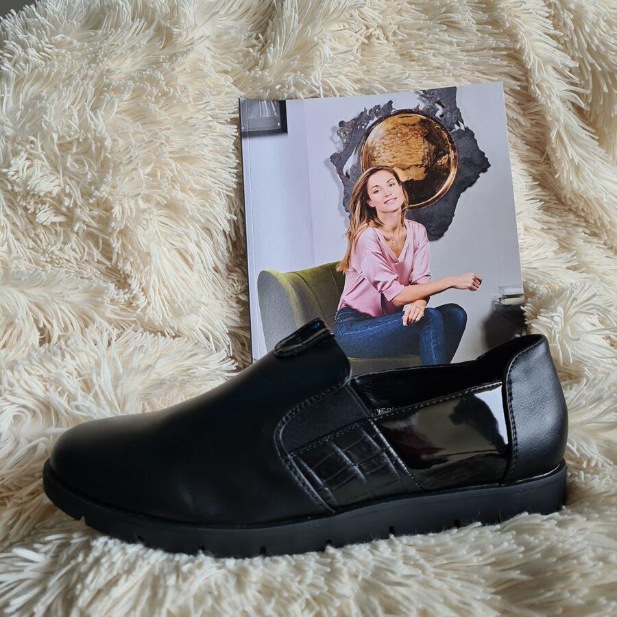 Weide sieviešu melnas kurpes, sliponi