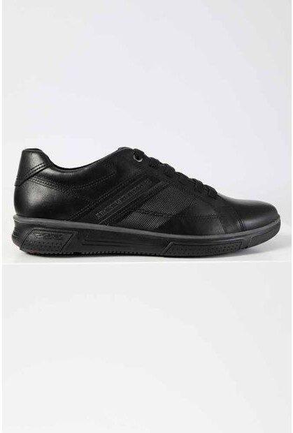 Pegada ādas apavi, melnas vīriešu kurpes