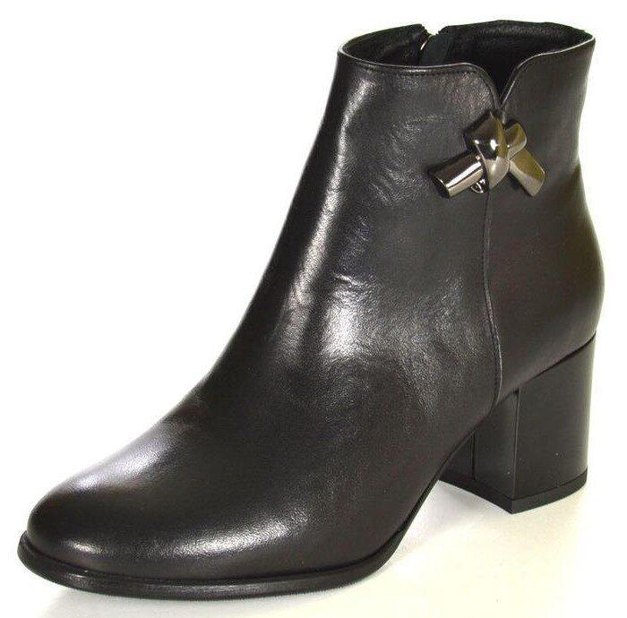 Ādas apavi, sieviešu augstpapēžu zābaki, melni rudens/pavasara puszābaki