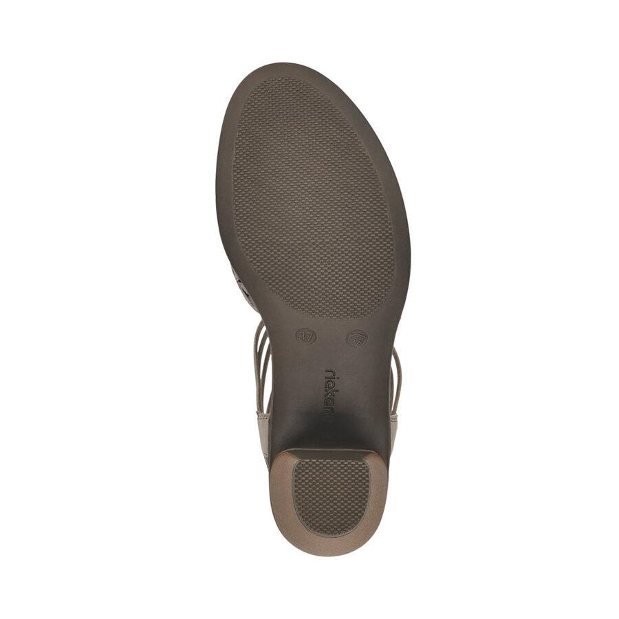 Rieker ādas apavi, bēšas sieviešu vasaras kurpes