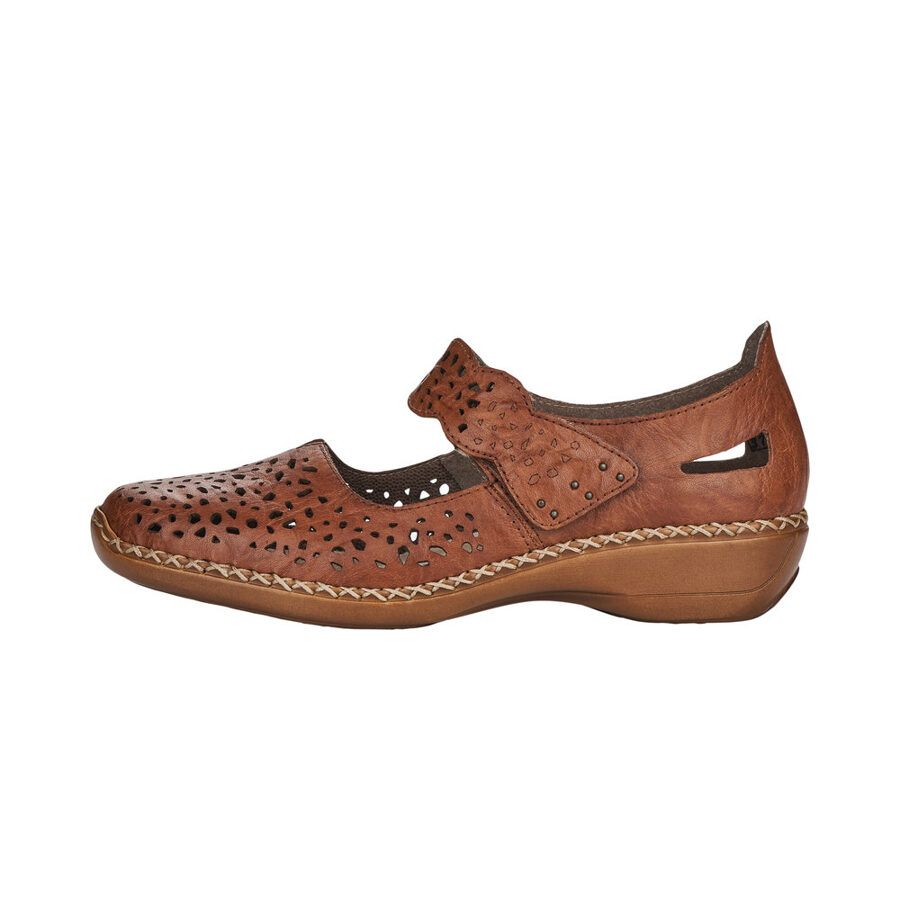 Rieker ādas apavi, brūnas sieviešu pavasara/vasaras kurpes