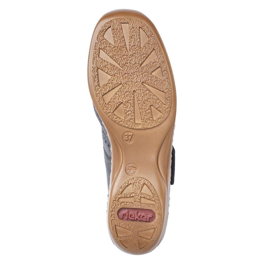 Rieker ādas apavi, zilas sieviešu vasaras kurpes