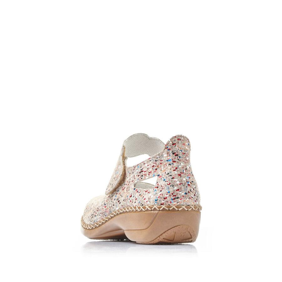 Rieker ādas apavi, gaišas sieviešu kurpes