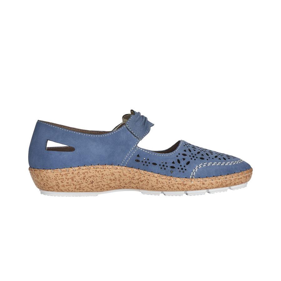 Rieker ādas apavi, zilas sieviešu pavasara/ vasaras kurpes