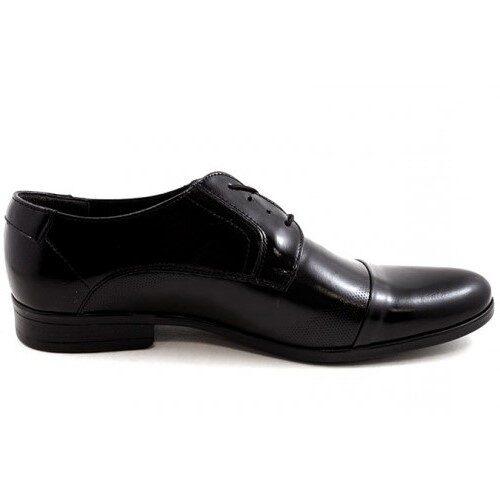 J&R ādas apavi, melnas, klasiskas vīriešu kurpes