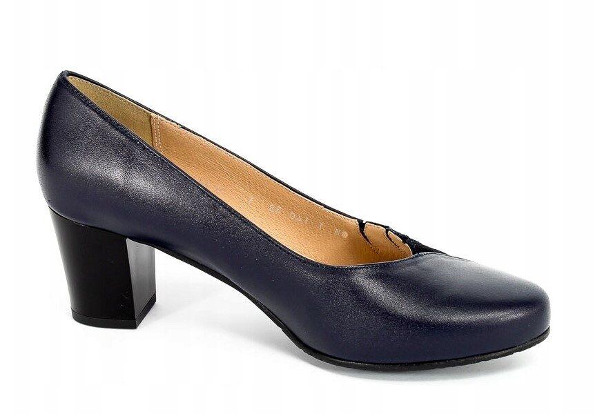 Grodecki ādas apavi, sieviešu zilas augstpapēžu laiviņas