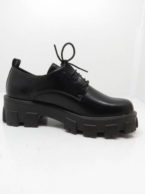 Seastar sieviešu melnas šņorējamas kurpes