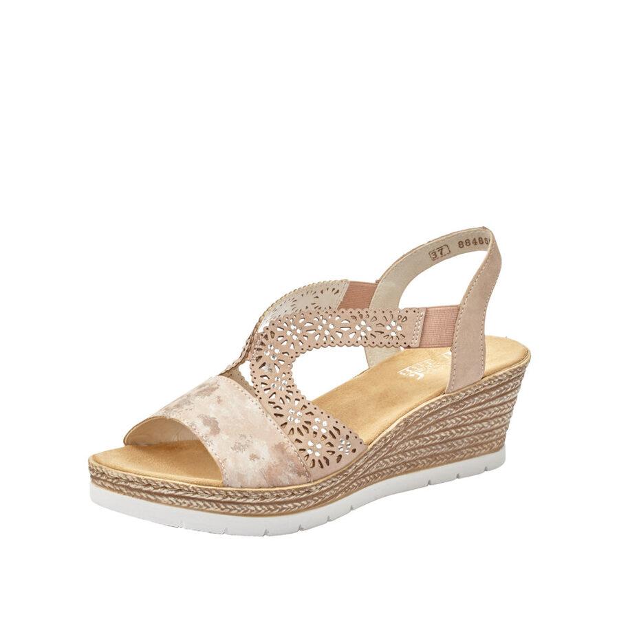 Rieker apavi, gaišas sieviešu vasaras zandales/kurpes