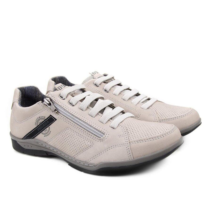 Pegada ādas apavi, bēšas vīriešu brīvā laika kurpes