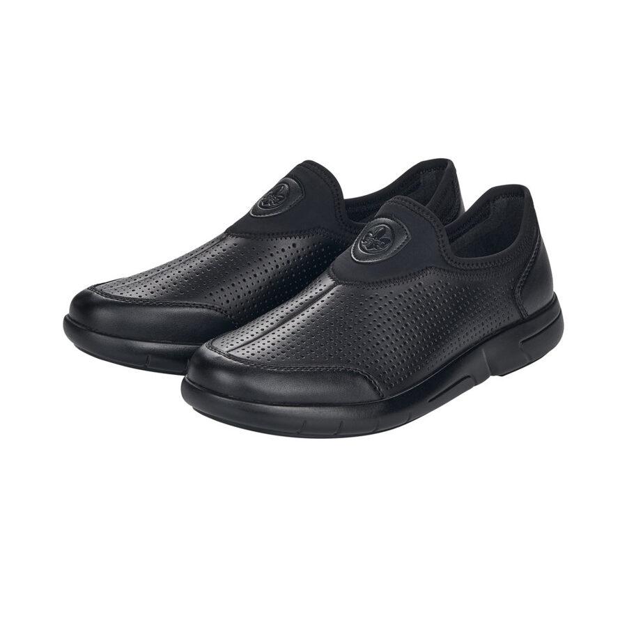 Rieker ādas apavi, melnas vīriešu kurpes