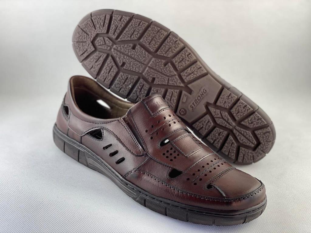 Marek P ādas apavi, brūnas vīriešu vasaras kurpes