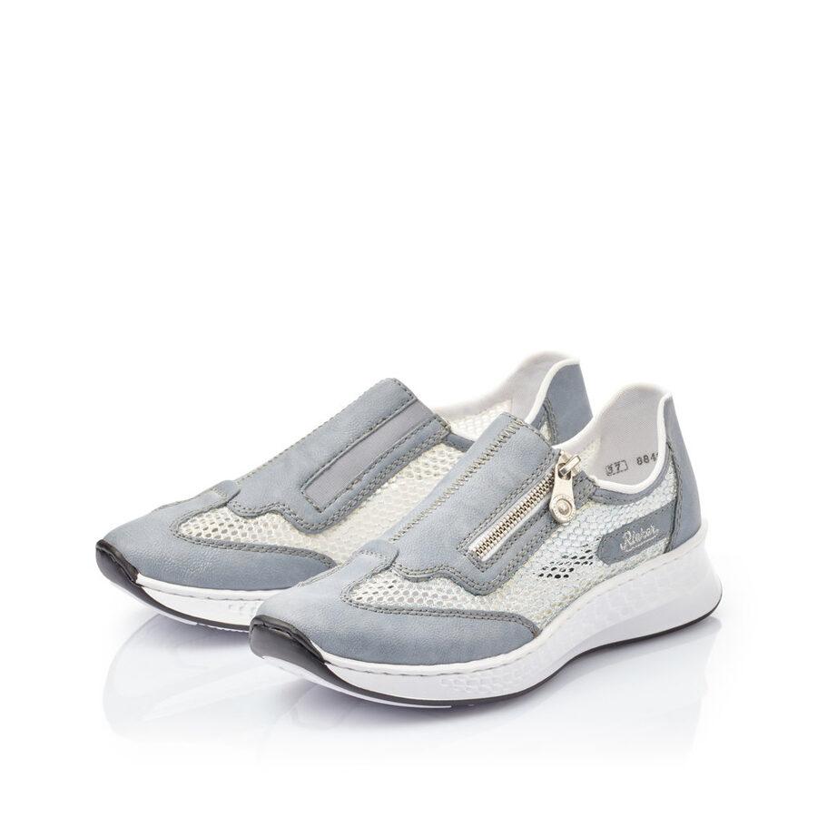 Rieker apavi, gaiši brīvā laika sieviešu apavi, sliponi