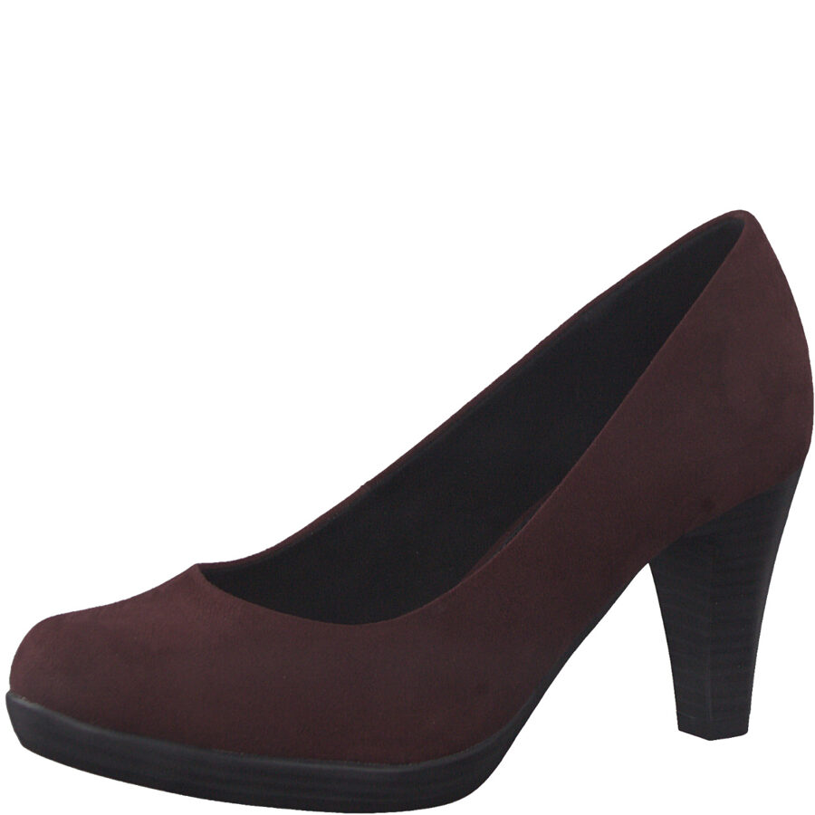 Marco Tozzi apavi, sieviešu bordo augstpapēžu kurpes