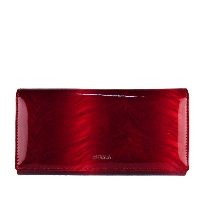 Patrizia Piu sieviešu sarkans dabīgās ādas maks