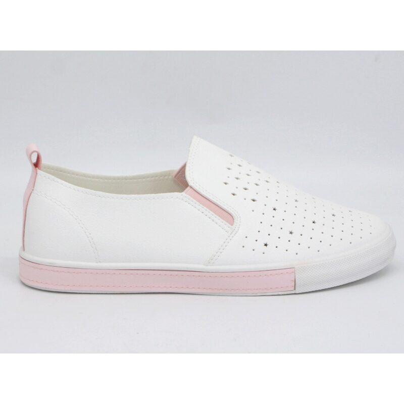 Bella Paris balti sliponi, brīvā laika apavi