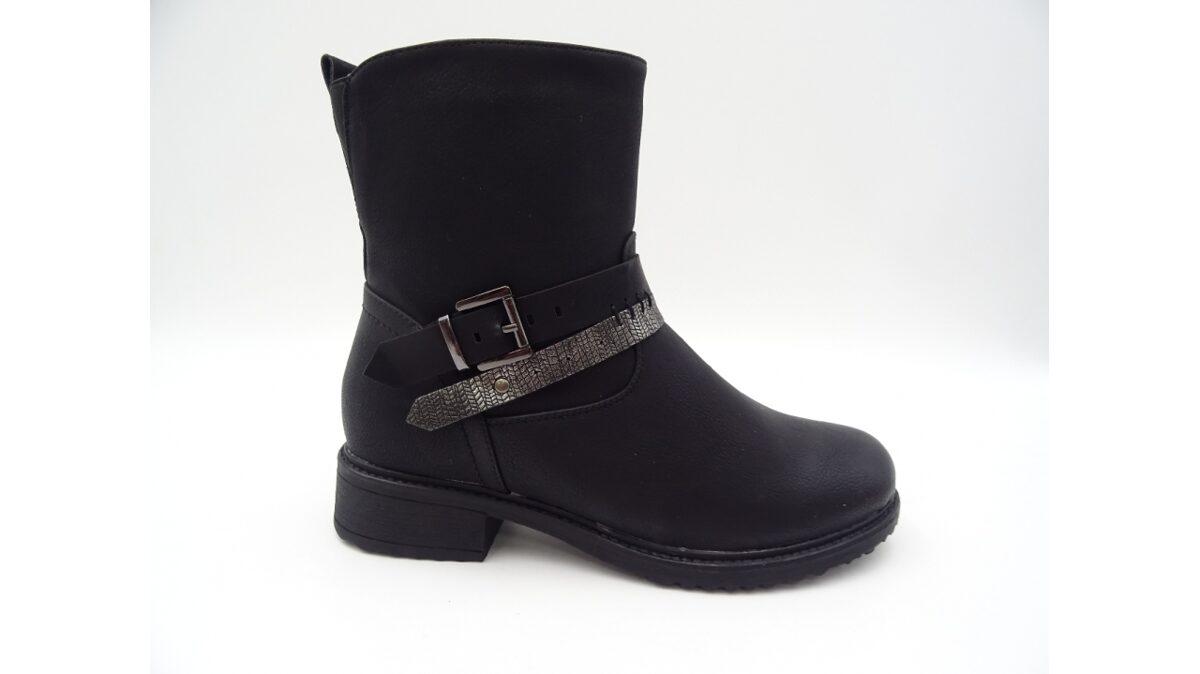 Melni sieviešu apavi, zempapēžu puszābaki