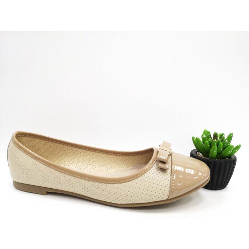 Bella Paris apavi, bēšas balerīnas, sieviešu laiviņas