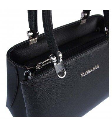 Flora&Co sieviešu melna soma