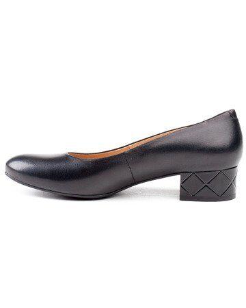 Marco ādas apavi, sieviešu kurpes, melnas laiviņas