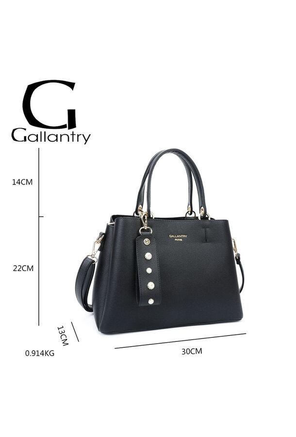 Gallantry neliela, melna sieviešu soma